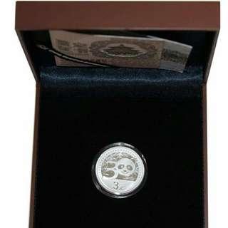 2012年 中国熊猫金币发行30周年银纪念币 (1套x1/4oz)