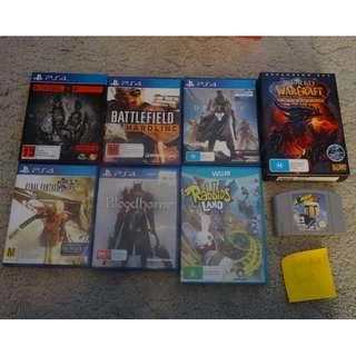 Video games bundle ps4 wii u pc n64