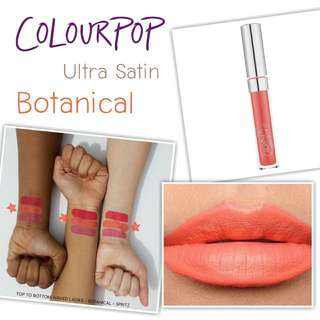 Colourpop Ultra Satin Liquid Lipstick: Botanical