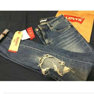 Levis 721 Distressed  High Skinny