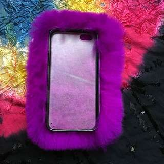iPhone 5/5s Fluffy Purple Phone Case