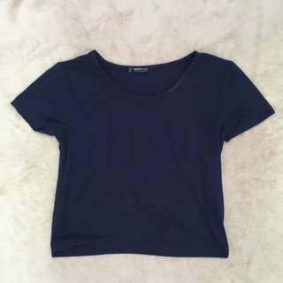 Mango Blue Crop Top