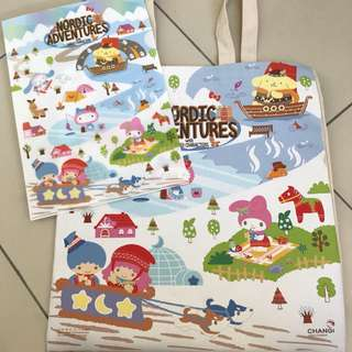 Sanrio Nordic Adventure Set Tote And A4 Folder Changi Airport