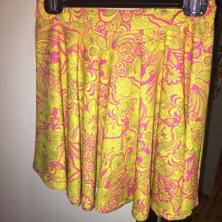 Yellow And Pink Bright Skirt