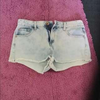 Light Blue/grey Denim Shorts