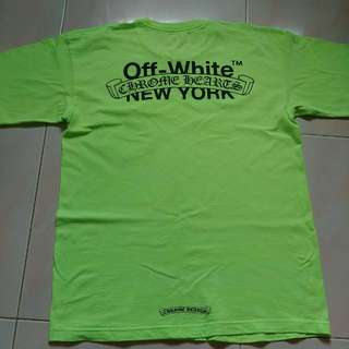 Chrome Hearts X Off White New York Lime Green Limited Edition(only 99 Worldwide) For Sale.