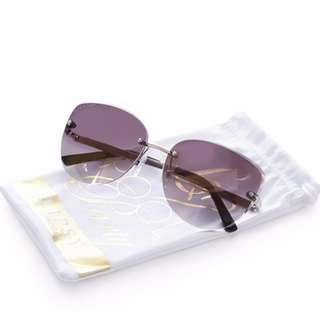 (U.P. $40) Lipsy Rimless Cat Eye Sunglasses in Silver