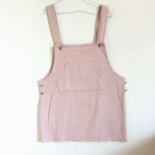 韓國粉色吊帶裙