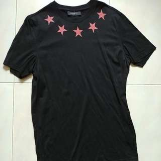 Givenchy Christmas Edition 2010 Stars Imprint T-shirt Size S.