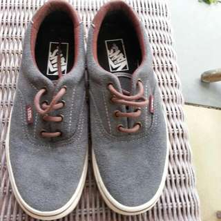 Vans Leather/suede Grey New Size 6'5