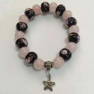 elastic beades bracelet with star charm