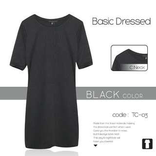 Preloved forever 21 basic mid dress