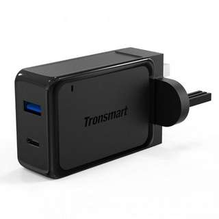[Qualcomm Certified] Tronsmart Dual Port Quick Charge 3.0 / Type C Adapter #UobPayNow