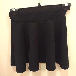 黑色鬆緊迷你裙