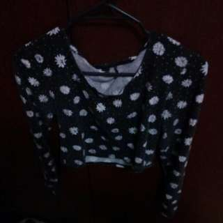 Long Sleeved Daisy Crop Top