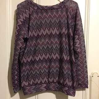 Asos Purple Long Sleeve Top Medium