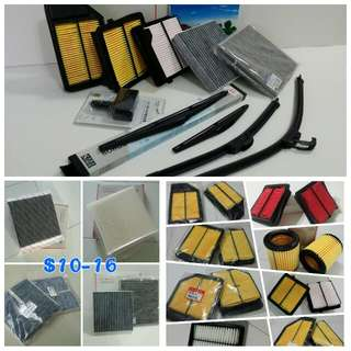 Honda Engine Air Filter, Cabin Filter, Front & Rear Wiper, Bulb, Visor, Armrest Console Box, Boot & Bumper Lip, Car Accessories