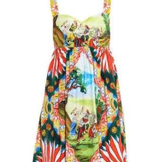 Dolce And Gabbana Sicily Cart Dress Size 36