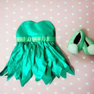 #win1000 tinkerbell one set dress and shoes costume