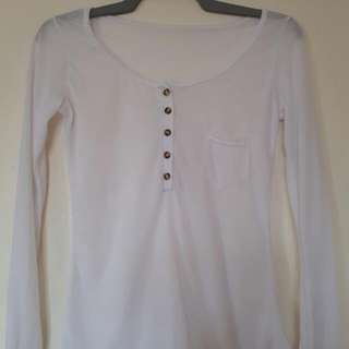 White Longsleeves With Button