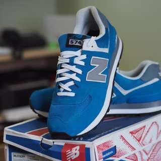 New Balance Men 574 Blue Sonar Navy Grey Size 11