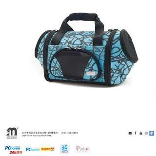 🚚 MYZOO 爆裂紋藍寵物貓狗外出提包提籠 近全新