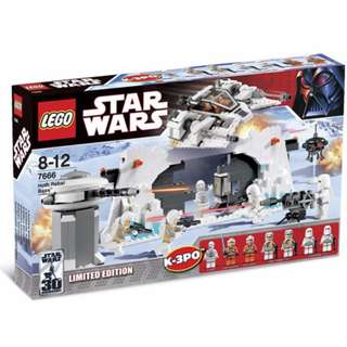 LEGO 7666 Starwars Hoth Rebel Base - Limited Edition set - released in 2007 - box not perfect