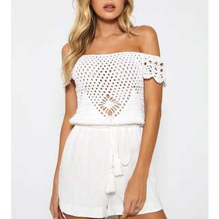 BNWT Peppermayo Crochet Playsuit