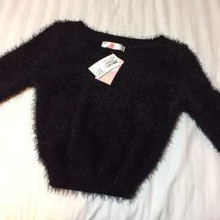 American Apparel Fuzzy Cropped Sweater