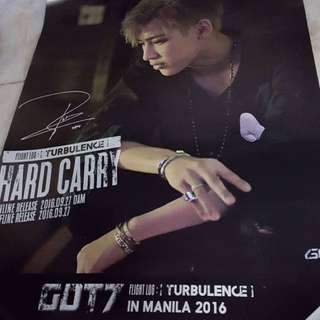 BamBam [Got7 Flight Log:Turbulence] Poster with Signature