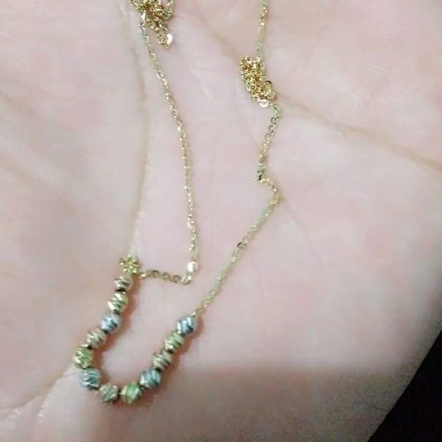 18k Gold Necklace Tri-color