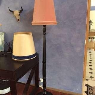 Tall Timber Floor Lamp &2 Shades