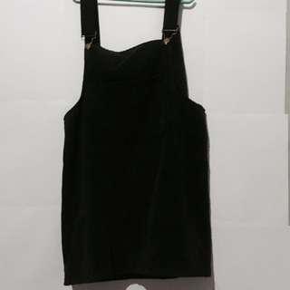 Black Corduroy Jumper Dress