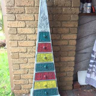 Rustic Tall Pyramid Drawers