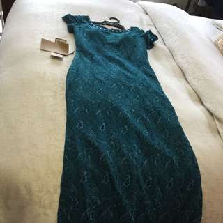 Turquoise Formal Lace Dress