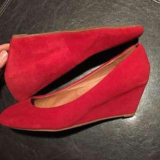ALDO Red Platform Heels