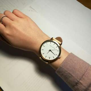 The Fifth Rose Gold & Peach Watch