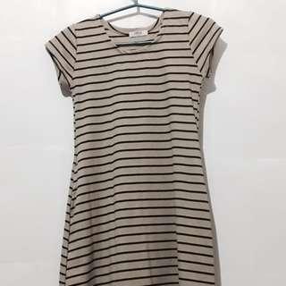 Brown Striped Unica Hija Dress