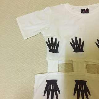White Semi Crop Top Dress