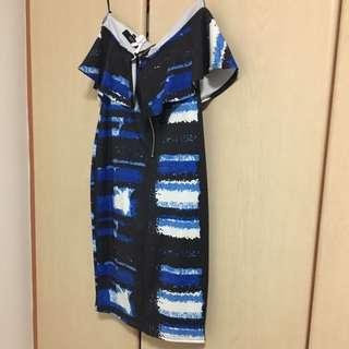 Mds ruffles tube dress