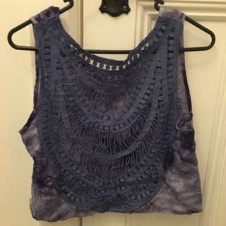 Tie Dye Crochet Crop Top