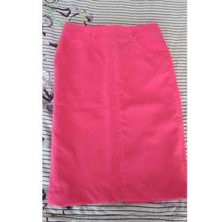 The Black Shop high-waisted pink skirt