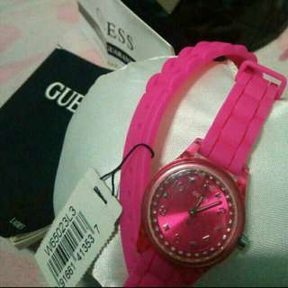Authentic Guess Watch Double Rubber Strap