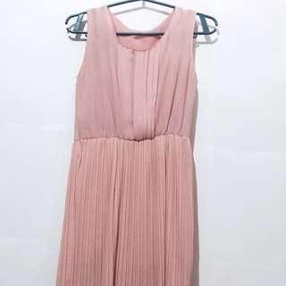 Old Rose Chiffon Dress