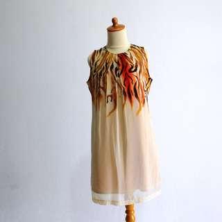 Dress - Cream tiger pattern