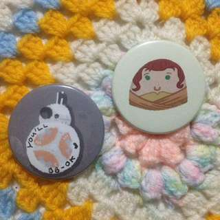Rey and BB-8 Star Wars: The Force Awakens Badges