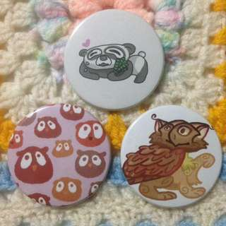 Cute animal badge bundle