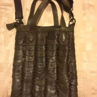Leather Bag With Long Adjustable Strap