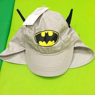 H&M 蝙蝠俠寶寶遮陽帽(有後脖遮陽罩)