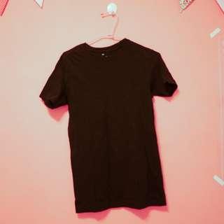 無印良品黑色短袖上衣t恤